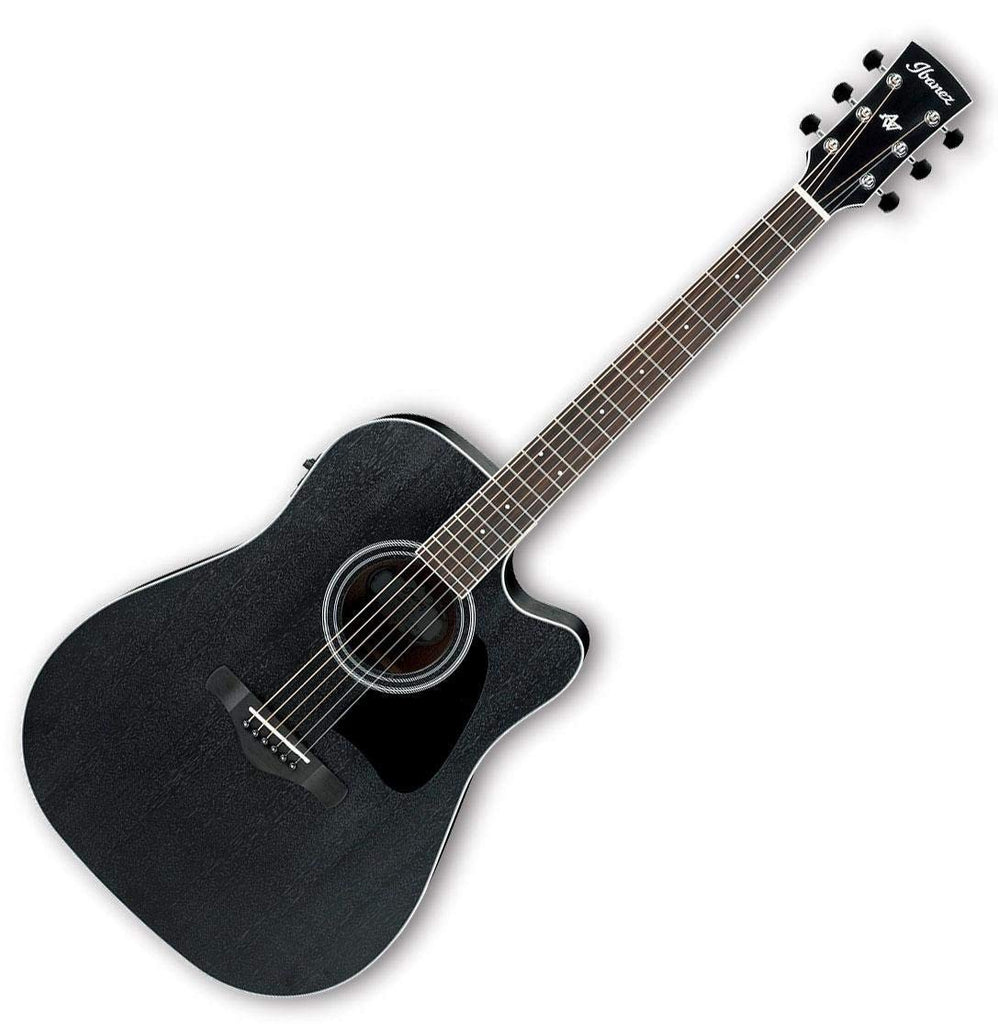 Ibanez Artwood Cutaway Acoustic Electric in Weathered Black Open Pore - AW84CEWK