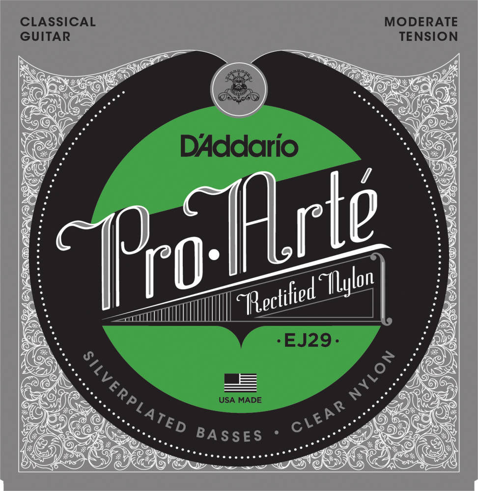 D'addario EJ29 Pro-Arté Rectified Trebles Classical Guitar Strings Moderate Tension