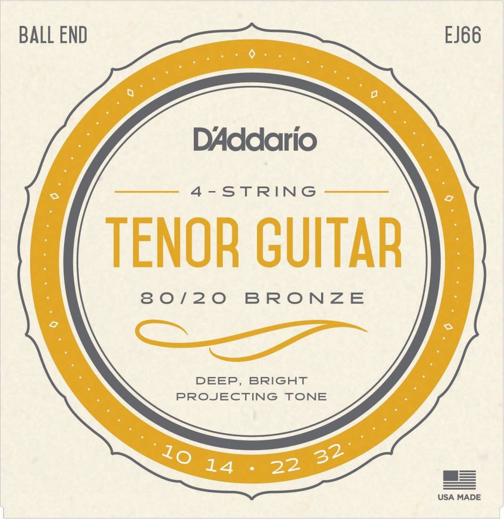 D'Addario EJ66 Tenor Guitar Strings Bronze