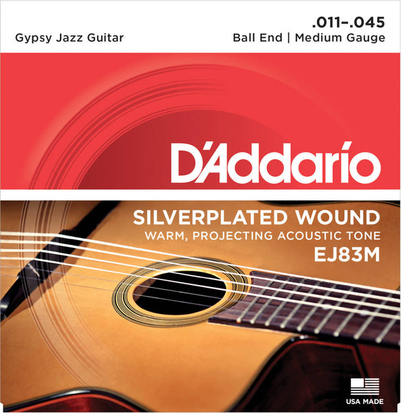 D'addario EJ83M Gypsy Jazz Acoustic Strings - Guitar Medium 011-045