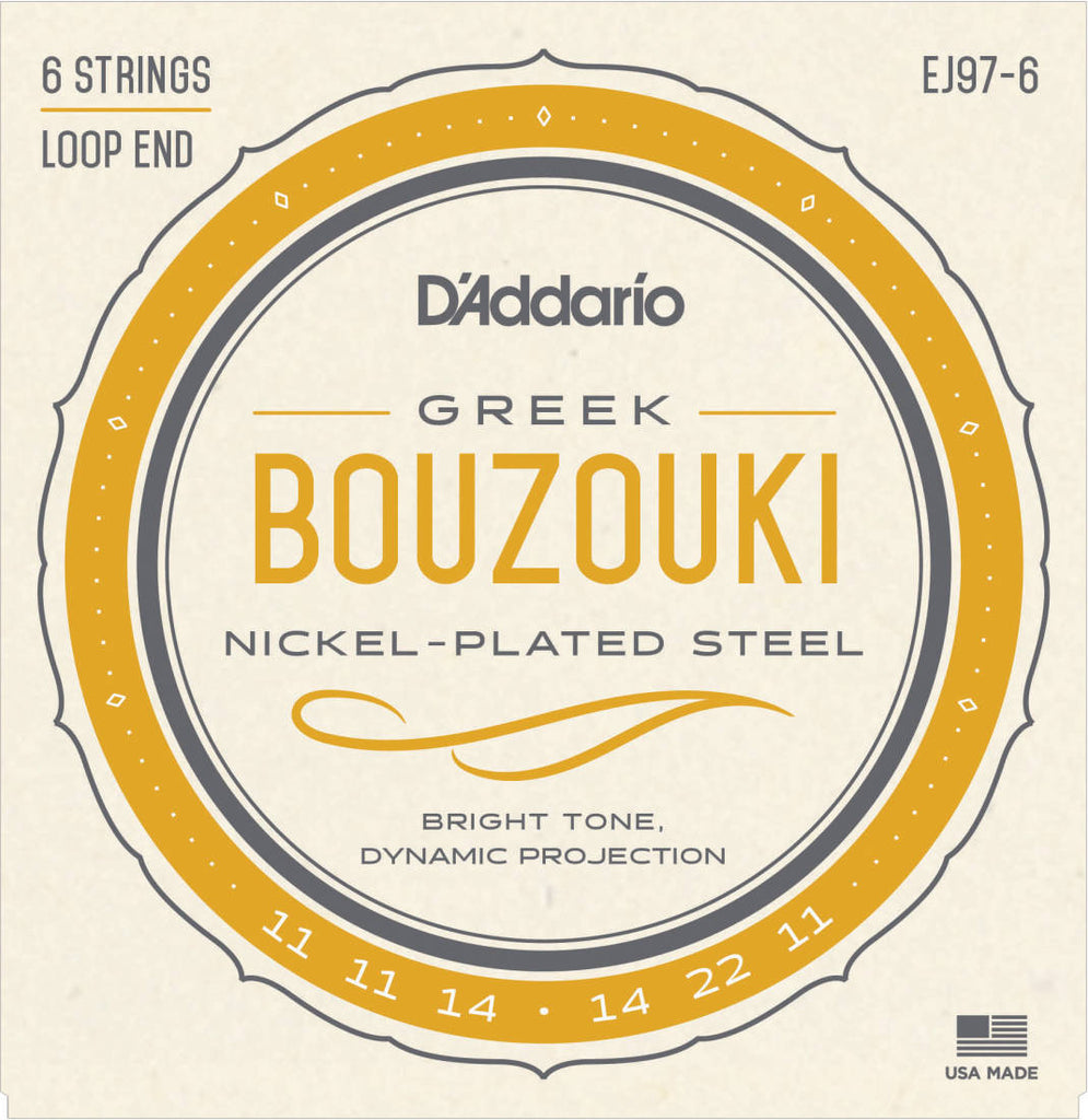 D'Addario EJ976 Greek Bouzouki Strings 6 String Set