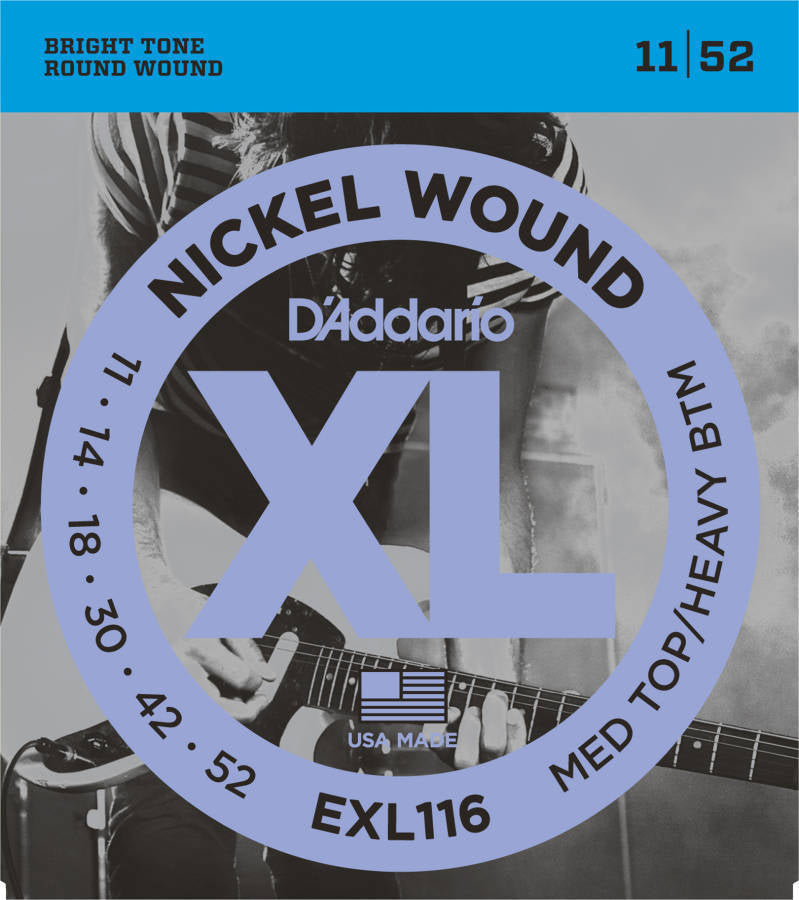 D'addario Nickel Plated Steel Wound Electric Strings 011-052  - EXL116