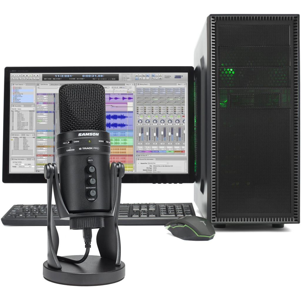 Samson GTRACKPRO Condenser Recording USB Microphone