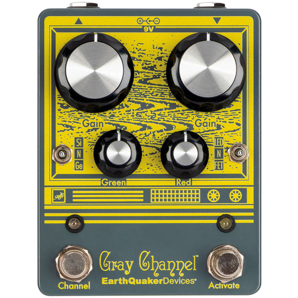Earthquaker GRAYCHANNEL Gray Channel Dynamic Dirt Doubler Overdrive Effects Pedal