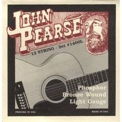 John Pearse 1400L 12 String Phosphor Bronze Acoustic Strings - Guitar 010 -047