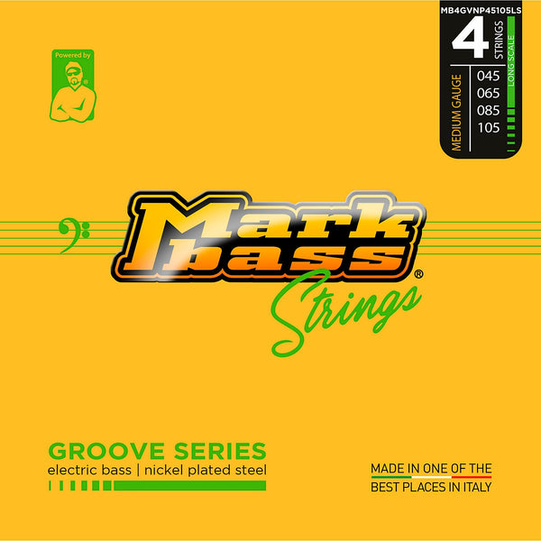 MarkBass Groove Series Nickel Plated 45-105 Bass Strings - MB4GVNP45105LS