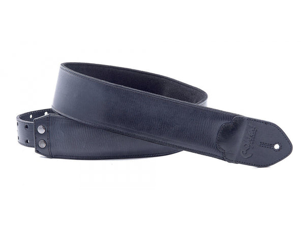 RightOn LEATHERCRAFT Vintage Black Guitar Strap - 8401050060709