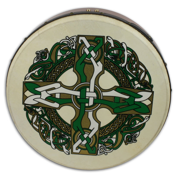 "Waltons 10AWAL1930 18"" Bodhran with Beater - Celtic Cross"