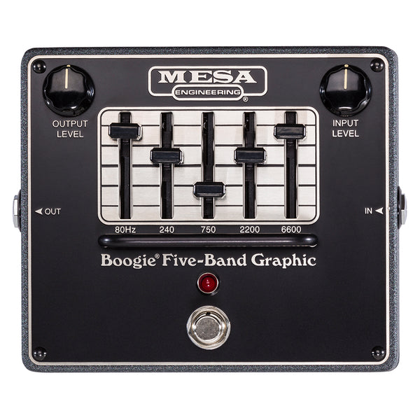 Mesa Boogie Boogie 5 Band Graphic EQ Effects Pedal - BOOGIE5BANDEQ