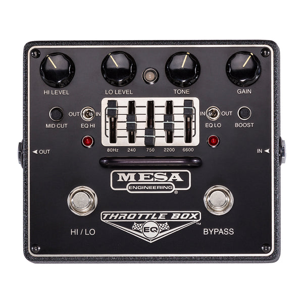 Mesa Boogie Throttle Box Distortion Effects Pedal with EQ - THROTTLEBOXEQ