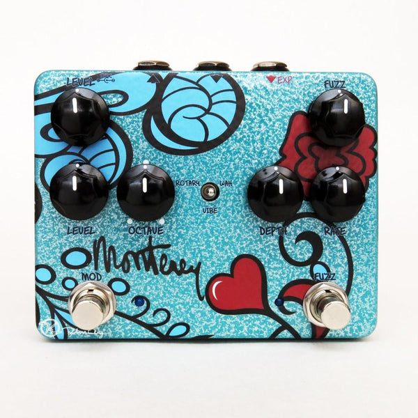 Keeley MONTEREY with Rotary Fuzz Vibrato Wah and Octave Multi Effects Pedal