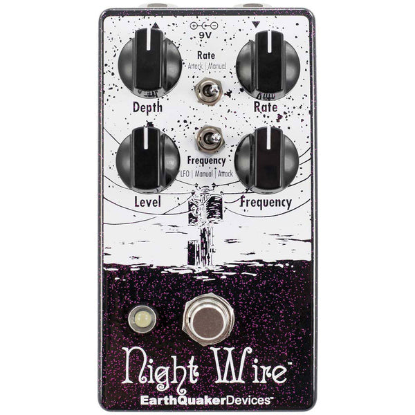 Earthquaker Night Wire V2 Wide Range Harmonic Tremolo Effects Pedal - NIGHTWIRE2