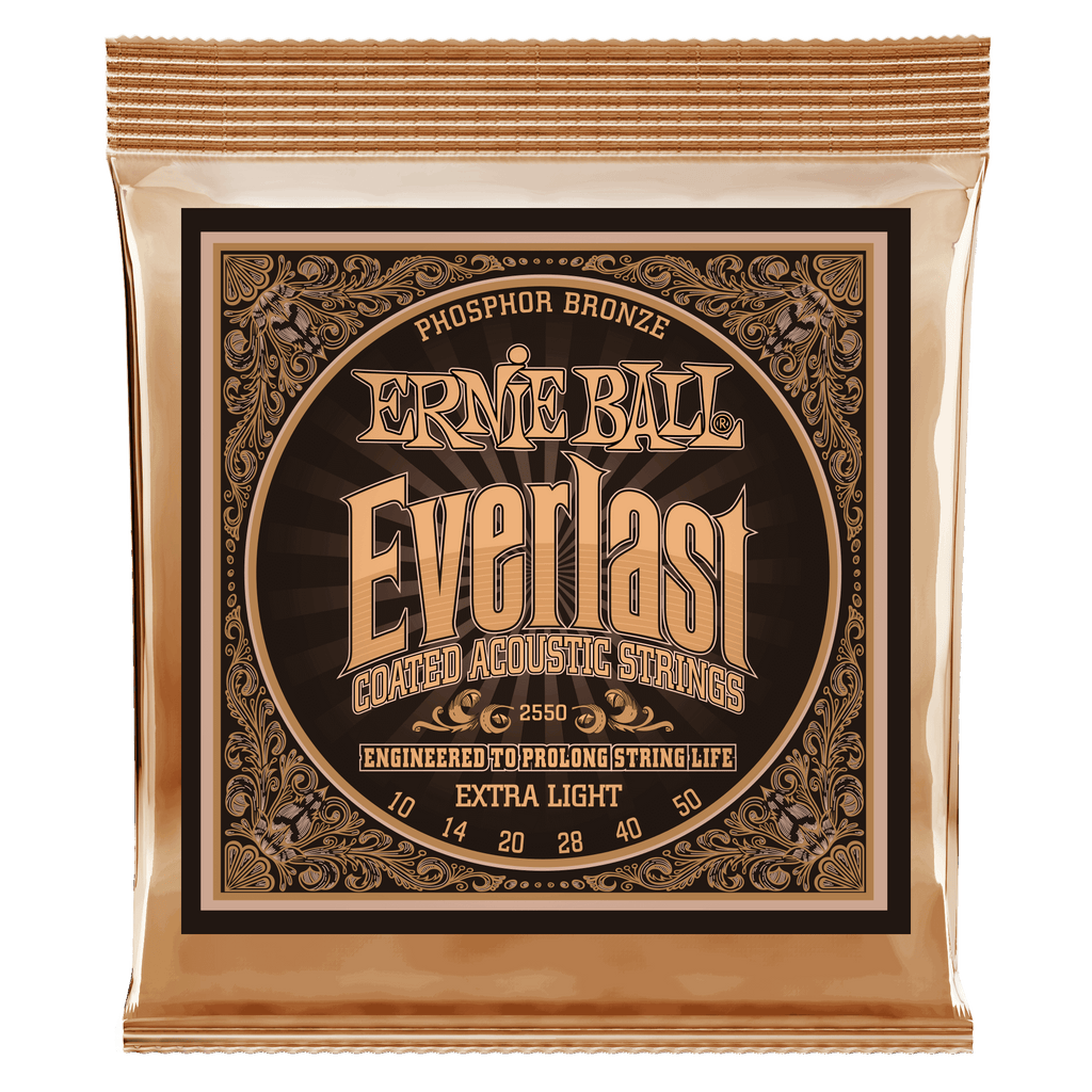 Ernie Ball 2550 Everlast PB Coated Extra Light Acoustic Strings - Guitar 010-050