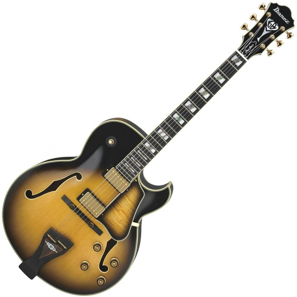 Ibanez LGB300VYS George Benson Signature Hollow Body Electric Guitar in Vintage Yellow Sunburst