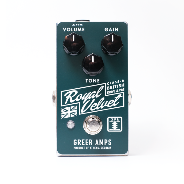 Greer Amps  Class-A British Drive Effects Pedal  - ROYALVELVET