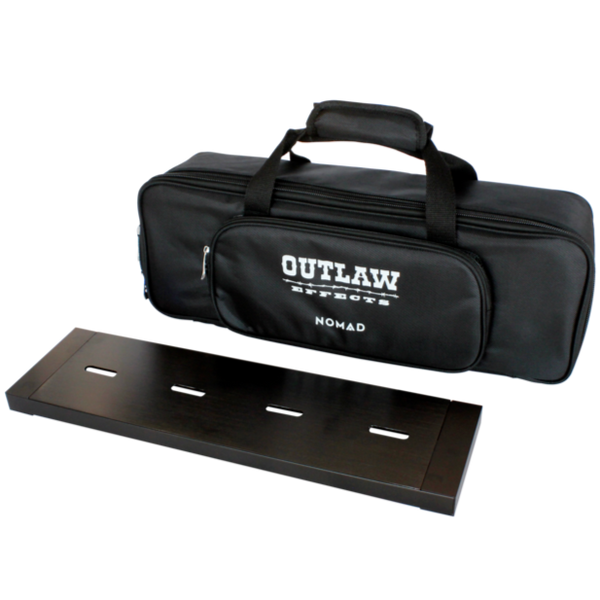 "Outlaw Effects Nomad 19.25"" x 5.25"" Rechargeable Powered Effects Pedal Board - NOMADS128"