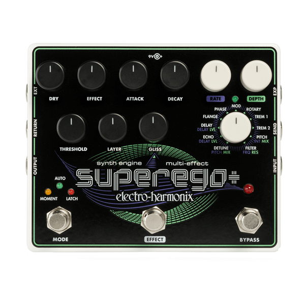 ElectroHarmonix SUPEREGOPLUS Super Synthesizer Engine Effects Pedal