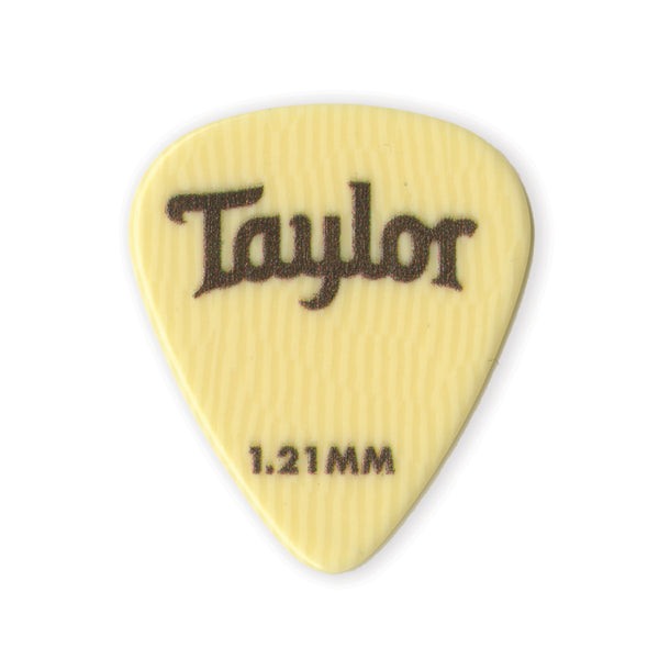Taylor 70720 Premium Darktone Ivoroid 351 Picks 1.21mm 6-Pack