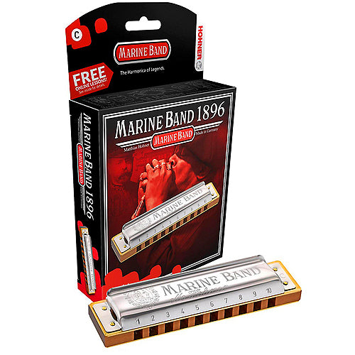 Hohner 1896BXNMG G Natural Minor Marine Band Harmonica
