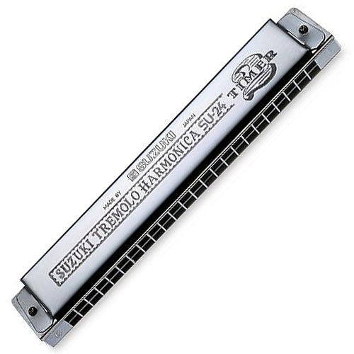 Suzuki SU242TC 2 Timer Tremolo Harmonica Key of C 24 Hole