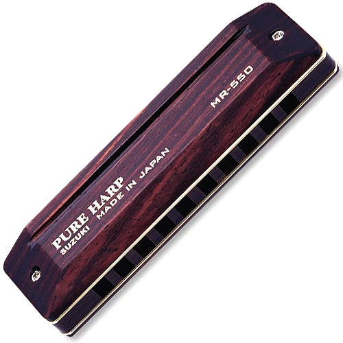 Suzuki MR550G PureHarp Wooden Harmonica Key of G
