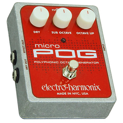 ElectroHarmonix MICROPOG Polyphonic Octave Generator Effects Pedal