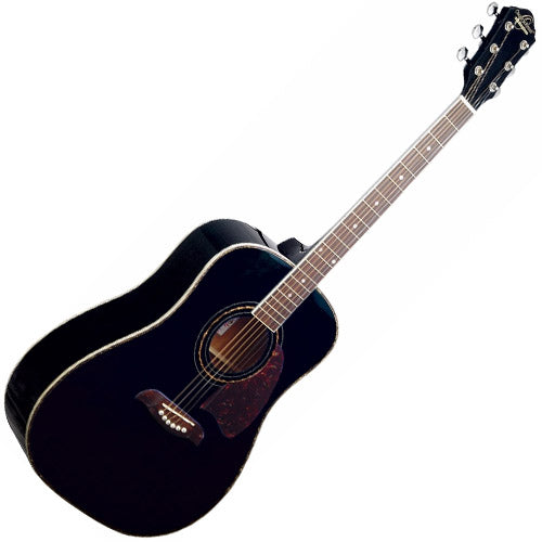 Oscar Schmidt OG2BBLK Dreadnought Acoustic Guitar in Black
