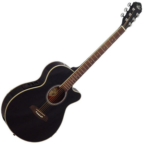 Oscar Schmidt OG8CEB Cutaway Acoustic Electric in Black