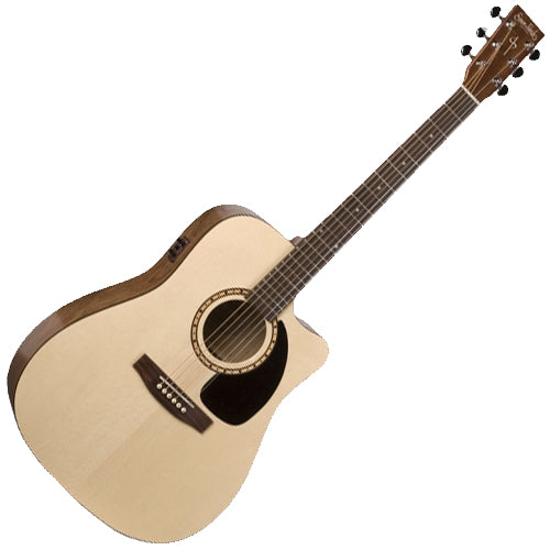 Simon & Patrick Woodland 6 Cutaway Solid Spruce Top Acoustic Electric - 29044