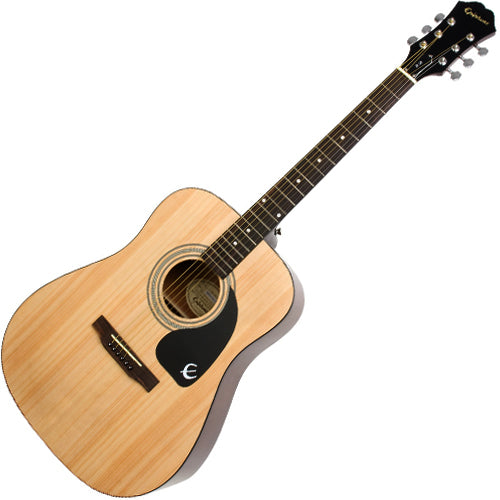 Epiphone DR100NACH DR100 Dreadnought Acoustic Guitar in Natural
