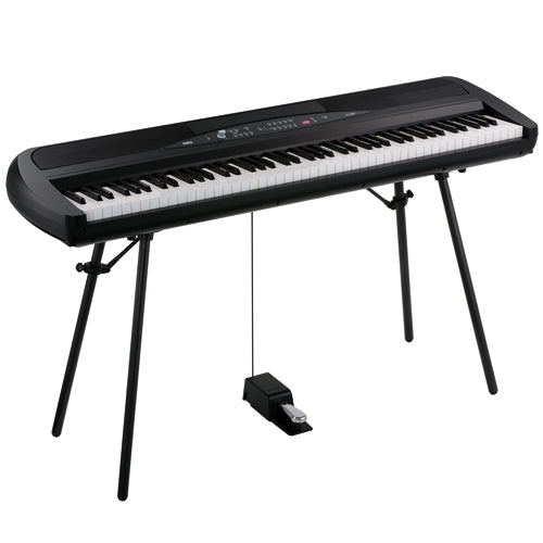 Korg SP280BK 88 Note Digital Piano with Stand and Pedal