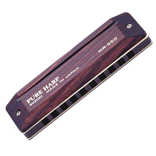 Suzuki MR550F PureHarp Wooden Harmonica Key of F