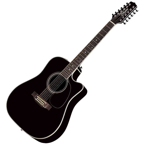 Takamine EF381SC Legacy Series Dreadnought 12 String Acoustic Electric in Black