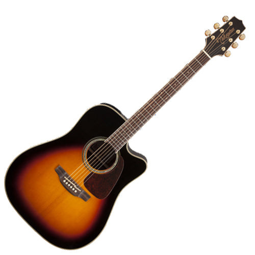 Takamine G 70 Series Dreadnought Cutaway Acoustic Electric in Brown Sunburst - GD71CEBSB