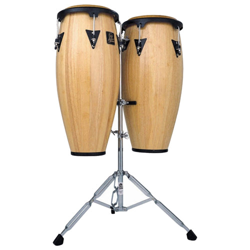 Latin Percussion Aspire Conga Set w/ Stand Natural Finish - LPA646AW