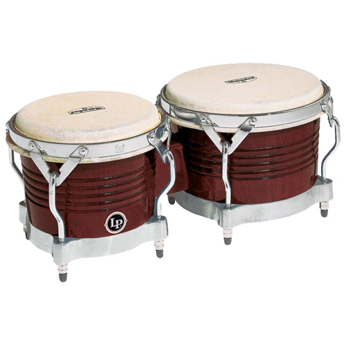 Latin Percussion Matador Wood Bongos Almond and Gold Finish - M201ABW
