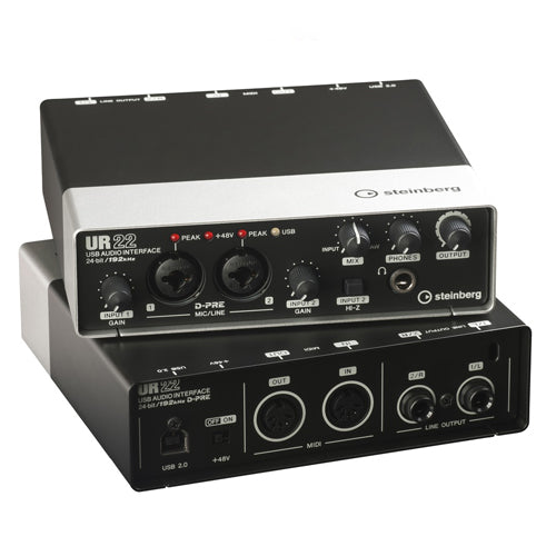 Steinberg UR22MKII 2 x 2 USB 2.0 audio interface with 2x D-PRE and 192 kHz support