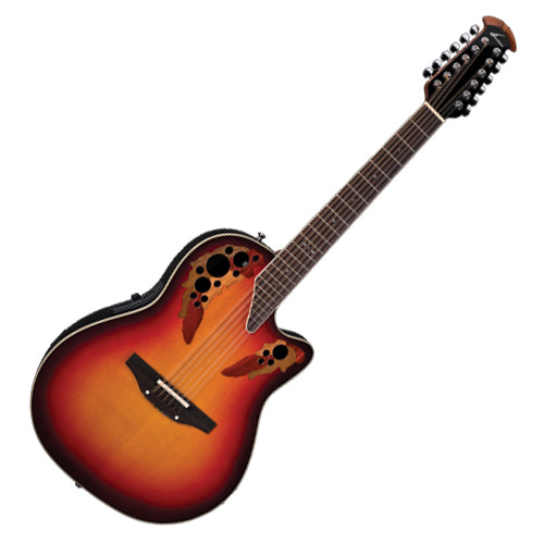 Ovation 2758AXNEB Standard Elite Series Acoustic Electric 12 String Deep Contour in New England Burst