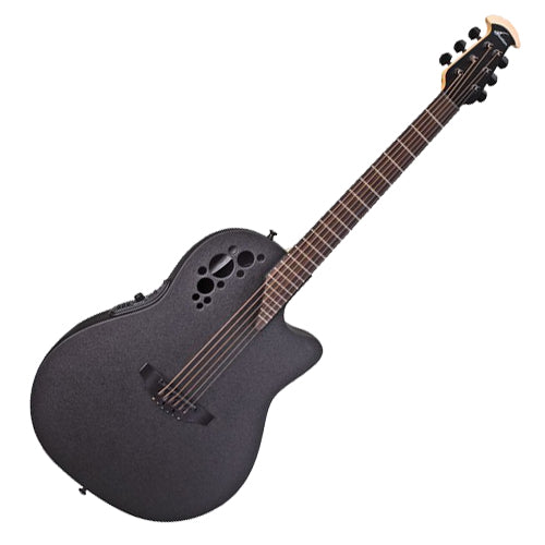 Ovation Elite TX Acoustic Electric Mid Depth Bowl in Black Textured - 1778TX5