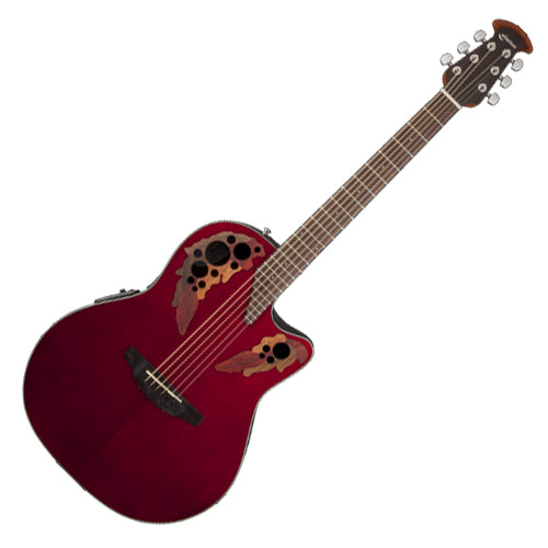 Ovation Celebrity Elite Acoustic Electric Mid Depth Bowl in Ruby Red - CE44RR