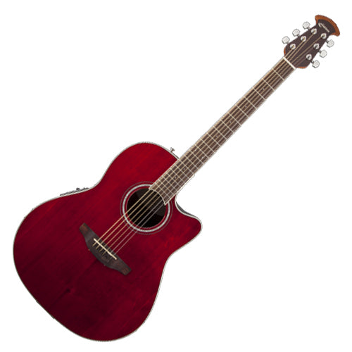 Ovation CS24RR Celebrity Standard Acoustic Electric Mid Depth Bowl in Ruby Red
