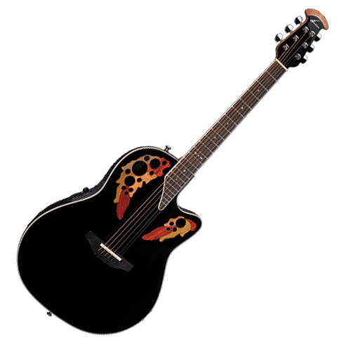 Ovation Standard Elite Series Acoustic Electric Deep Contour in Black - 2778AX5