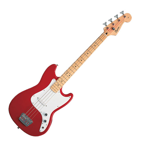 Squier 0310902558 Bronco Short Scale Bass Guitar in Torino Red