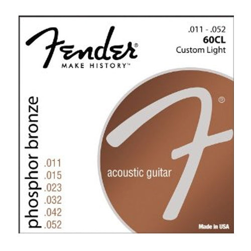Fender 0730060405 Custom Light Phosphor Bronze Acoustic Guitar Strings 011-052
