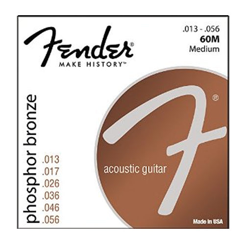Fender 0730060408 Medium Phosphor Bronze Acoustic Guitar Strings 013-056