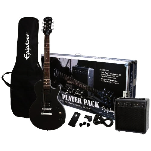 Epiphone ELPJEBCHPP Les Paul Special Electric Guitar Player's Pack in Ebony