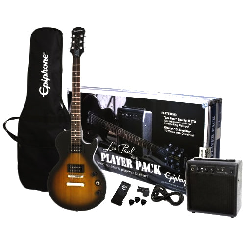 Epiphone ELPJVSCHPP Les Paul Special Electric Guitar Player's Pack in Vintage Sunburst