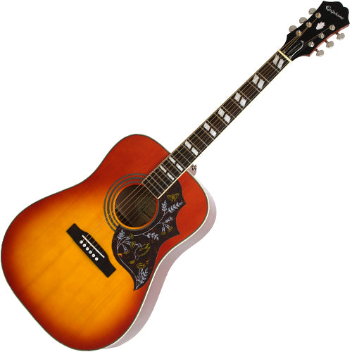 Epiphone Hummingbird Pro Acoustic Electric in Faded Cherry Sunburst - EEHBFCNH
