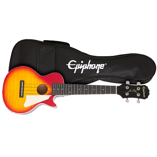 Epiphone EUKELPHSNH Les Paul Ukulele with Pickup - Cherry Sunburst
