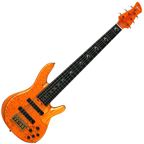 Yamaha TRBJP2AM John Patitucci Signature Electric 6 string Bass Guitar Amber Finish